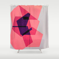 Overlapping Hours Shower Curtain by Bunhugger Design