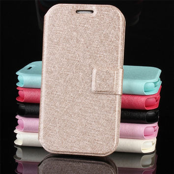 mobile phone PU leather case for samsung galaxy s3 s4 s5 s6 s7 edge luxury flip cute brand wallet original cover