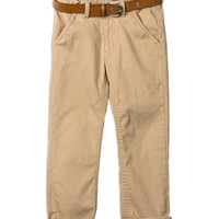 Pumpkin Patch - - chino pant with belt - W5BY68011 - desert sand - 6 to 12