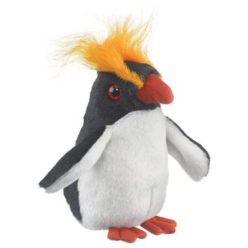"5"" Macaroni Penguin Finger Puppets Stuffed Animals Conservation Collection"