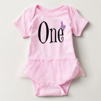 Baby girl first birthday tutu outfit t shirt