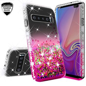 S9 Plus S9 Girls Women Liquid Quicksand Bling Cute Clear Soft Tpu Silicone Case Back Cover 100% High Quality Materials For Samsung Galaxy S9