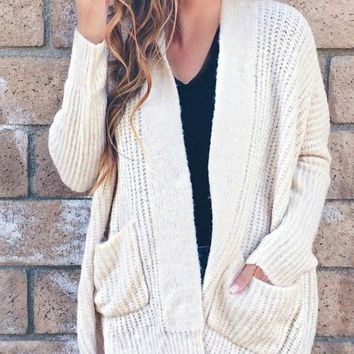 Noelle Ribbed Knit Cardigan - FINAL SALE