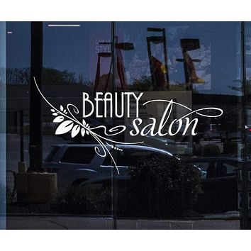 Window Sign and Wall Stickers Vinyl Decal Beauty Salon Spa Barbershop Hair Stylist Unique Gift (ig1398w)