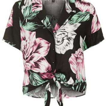 Floral Print Hawaiian Shirt By Kendall + Kylie at Topshop - Multi