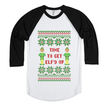 Time to Get Elfd Up Funny Ugly Christmas Sweater T Shirt