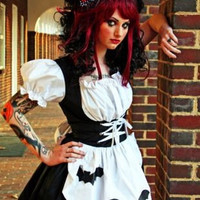 Gothic Lolita Black Dress Gothic Ragdoll Costume by MGDclothing