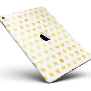 "Gold Watercolor Stars Full Body Skin for the iPad Pro (12.9"" or 9.7"" available)"