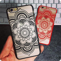 Colourful Floral PC Hard phone Case Cover For Apple iPhone5 5s Fashion Retro Flower Mandala phone Back Cover For iphone 5 5G