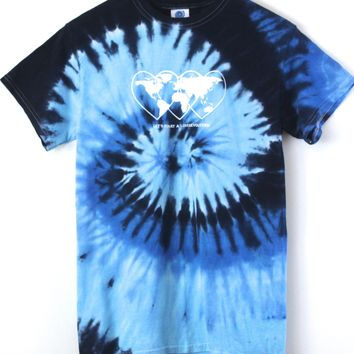 Love Revolution Ocean Tie-Dye Graphic Unisex Tee