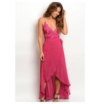 Sweetheart Neckline Rose Dress