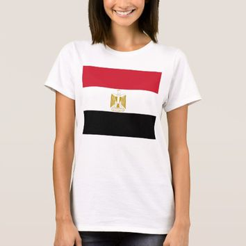 Women T Shirt with Flag of Egypt