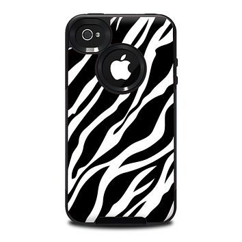 The Simple Vector Zebra Animal Print Skin for the iPhone 4-4s OtterBox Commuter Case