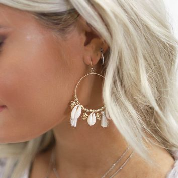 Shore Walk Seashell Hoop Earrings