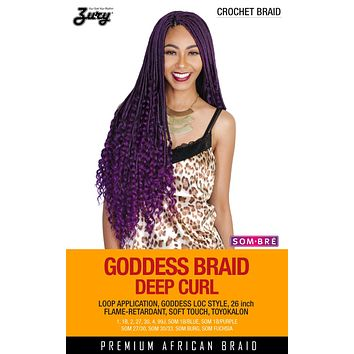 Zury Goddess Braid/Zury Loc Deep Curl Synthetic Braiding Hair Crochet Braid 26""