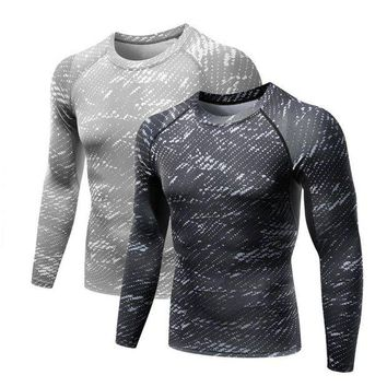DCCKFS2 Balight Men Workout Fitness GYM Compression Base Layer Long Sleeve T Shirt Sports Body Building Running Tops Shirts Plus Size V2