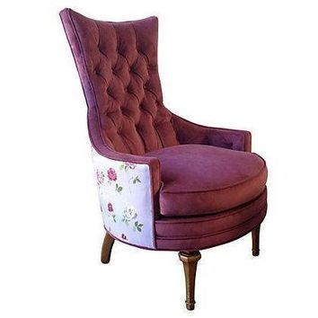 Pre-owned 1950s Tufted Accent Chair