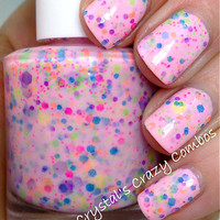 NEW Neon--I Lost My Marbles:  Custom-Blended NEON Glitter Nail Polish / Lacquer