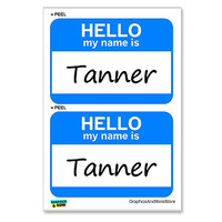 Tanner Hello My Name Is - Sheet of 2 Stickers