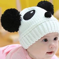 BONAMART ® Baby Infant Boys Girls Knitted Beanie Hat Cap Lovely Panda Design 6-36 months