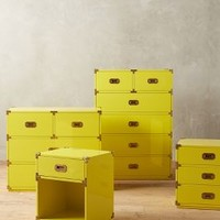 Lacquered Wellington Collection by Anthropologie Yellow