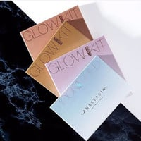 face make up matte powder bronzer & highter cosmertic that glow gleam glow kit
