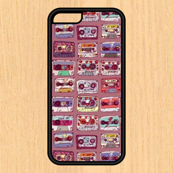 Cassette Tape Pattern Design Art iPhone 4 / 4s / 5 / 5s / 5c /6 / 6s /6+ Apple Samsung Galaxy S3 / S4 / S5 / S6