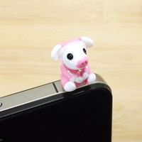 Cute Pink Pajamas Pig Anti Dust Plug 35mm Smart by Polaris798