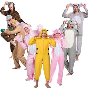 Animal Costume Onesuits Adult Overall Pajama  Unisex Theme Halloween Party Jumpsuit Cartoon  Stitch Funny SuitKawaii Pokemon go  AT_89_9