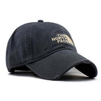 Embroidered Baseball The North Face Cap Hat Gray
