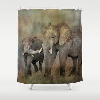 Mother And Child Shower Curtain by Theresa Campbell D'August Art