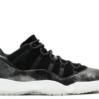 "Air Jordan 11 Retro Low ""barons"" - Air Jordan - 528895 010 - black/white-metallic silver 