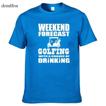 T Shirt = Weekend Forecast Golfing With A Chance Of Drinking