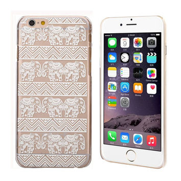 Lotus Floral Elephant Hindu Ganesh Case Cover For iPhone 6S 4.7 Inch