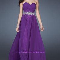 Long Strapless Sweetheart Formal Gown