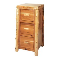 Cedar File Cabinet With Three Drawers