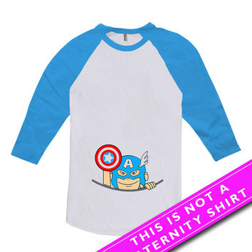 Pregnancy Announcement Shirt Peeking Baby Peek A Boo Pregnancy Reveal Maternity Clothing Mommy To Be American Apparel Unisex Raglan MAT-202