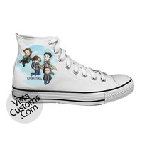 Supernatural Funny Art White shoes New Hot Shoes