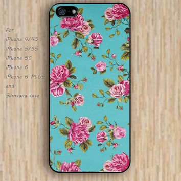 iPhone 5s 6 case flowers pink flowers blue phone case iphone case,ipod case,samsung galaxy case available plastic rubber case waterproof B529