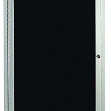 """Enclosed Outdoor 24""""x36"""" One Door Satin Anodized Finish Aluminum Directory Changeable Letter Board"""