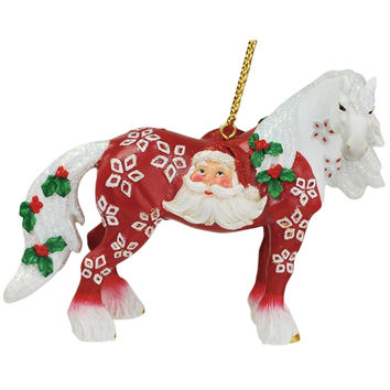 Clydesdale Santa Head Christmas Ornament