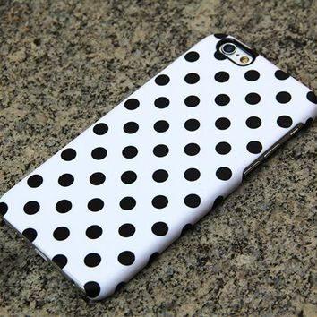 Polka Dots iPhone 6s case iPhone 6 plus Case Black and White iPhone 5S 5 iPhone 5C iPhone 4S/4 Case Samsung Galaxy S6 edge S6 S5 S4 Case 052