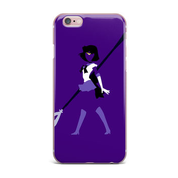 "NL Designs ""Saturn Senshi"" Purple White iPhone Case"