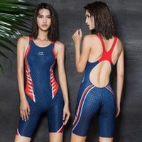 2018 New Sexy Sport Swimming Suits One Piece Swimsuit Professional Training Competition Swimwear Bodysuit