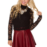 Christie Lace Top - Black