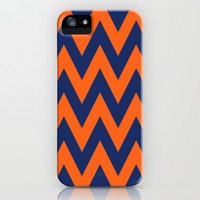 Chevron TS Blue and Orange iPhone & iPod Case by Team Spirit  Email me with your favorite color combos!!!!!