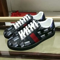 GUCCI Old Skool Women Fashion Leather Sneakers Sport Shoes