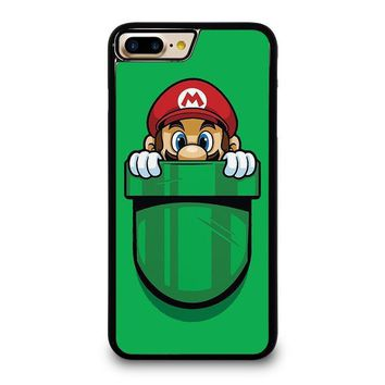 mario bross pocket plumber iphone 4 4s 5 5s se 5c 6 6s 7 8 plus x case  number 1