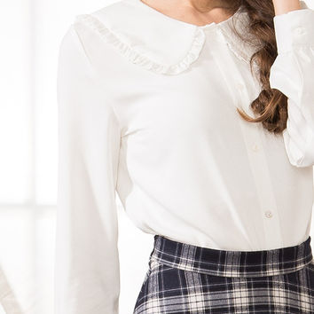 Peplum Collar Shirt