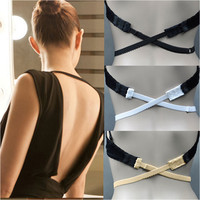 3 Pcs/Lot Fashion Sexy Underwear Back Backless Bra Strap Adapter Converter Extender Hook Black White Beige  #NY01098